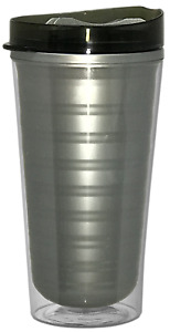 16 oz. Double Wall Insulated Coffee Tumbler with Snap-On Lid - 60 Case Pack