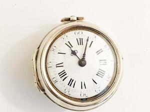 King George I  pair case verge fusee pocket watch dated 1714 to 1727 No 162