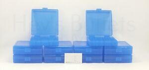 BERRY'S PLASTIC AMMO BOXES (10) BLUE 100 Round 9MM  380 - FREE SHIPPING