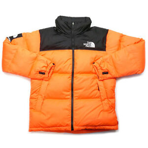 SUPREME  THE NORTH FACE 16 AW Nuptse Down Jacket ORANGE L