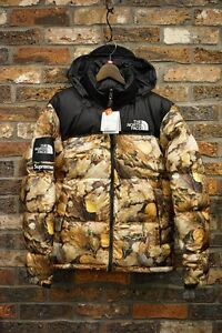 SUPREME 16 AW THE NORTH FACE Nuptse Jacket Leaves XL