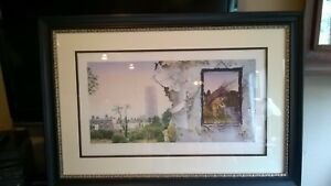 Led Zeppelin 4 Silkscreen Lithograph Autographed by Jimmy Page