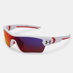 UNDER ARMOUR *YOUTH* MENACE SUNGLASSES SHINY WHITE FRAME  INFRARED MULTI  18273