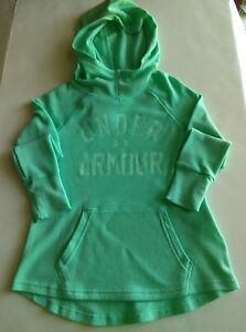 Under Armour Cold Gear Girl's LS Graphic Tee whood Mint Green YSM NWT