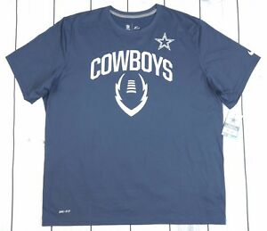 Nike Dallas Cowboys NFL Team Apparel Dri-Fit Navy Shirt - XXL