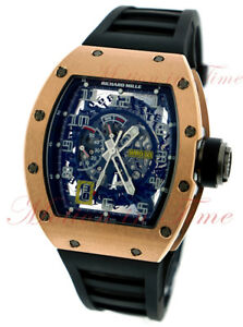 Richard Mille Rm30 Rose Gold Skeleton Declutchable Rotor Power Reserve - Rare!!