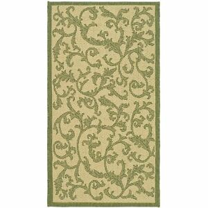 All Weather Indoor Outdoor Natural Olive Area Rug 2#x27; 7 x 5#x27;
