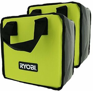 (2) RYOBI TOOL BAGS (10X10X6) CASES FOR 18 VOLT DRILL IMPACT & BATTERY