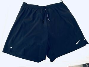 Men's XL BlackVolt Nike Dri Fit Running Shorts Trunks with Liner-NEWFree S&H!