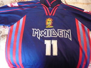 Iron Maiden SoccerFootball jerseyshirt signed by band   Virtual X1 Soundhouse