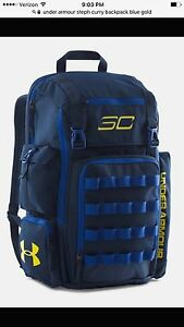 Under Armour Men's SC30 Backpack Steph Curry bluegold. New With Tags