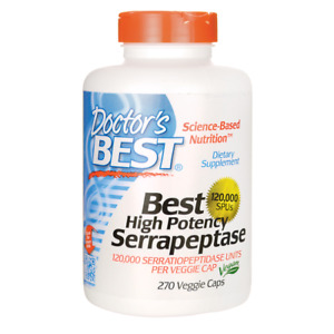 Doctor's Best High Potency Serrapeptase 270 Veg Caps