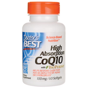 Doctor's Best High Absorption Coq10 with Bioperine 100 mg 60 Sgels