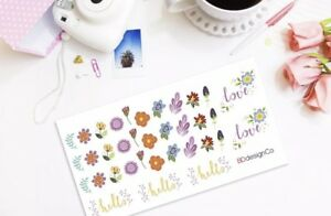 35 Flower Hello and Love Stickers for Various Types of Planners #212