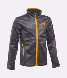 Boys' Under Armour UA Storm Softershell Jacket Graphite Gray Sz Y XL NWT 1280618