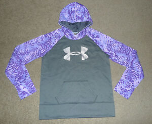 Girls YXL Extra Large XL Under Armour Fleece Storm Big Logo Hoodie Sweatshirt