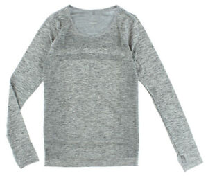 Nike Womens Dri Fit Knit Long Sleeve Grey XS 644683 010