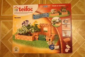 Teifoc Small Garden Construction Set Real Brick & Mortar Building Toy TEI 9010