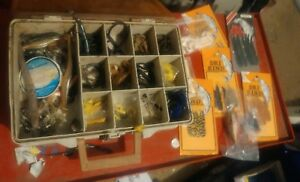 MAGNUM Double 2 Sided Tackle Box by Plano LOADED LURES SINKERS WORMS dri rind