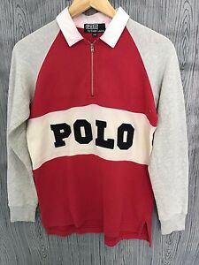 VINTAGE POLO RALPH LAUREN RUGBY SPORT BIG SPELL OUT JERSEY T-SHIRTS STADIUM