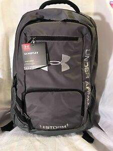 NWT!!Under Armour Storm Hustle II Backpack Gray