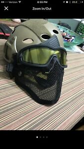 Emerson tactical helmet with goggles and face mask