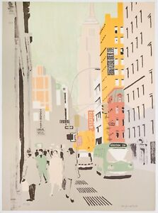 Fairfield Porter: Broadway 1972. Signed Numbered Fine Art Print.