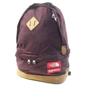 SUPREME  THE NORTH FACE 12 AW Medium Day Pack Backpack Backpack BURGANDY
