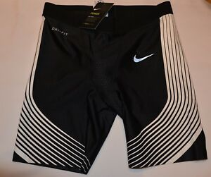 Mens New Nike Power Running Shorts Black and White Size M New With Tags