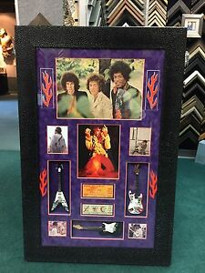 Jimi Hendrix Experience FULL Band signed autographed magazine photo. PSA