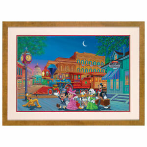 Disney Parks Mickey Mouse Arriving in Style Lithograph by Manuel Hernandez New