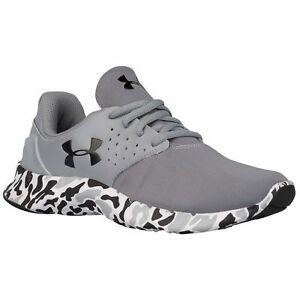 UNDER ARMOUR BPS FLOW CAMO RUNNING SHOES BOYS SIZE 12K NEW GRAY CAMO 1301858-035
