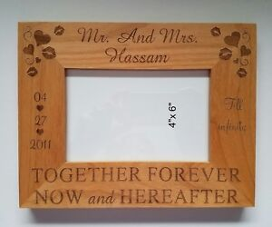 Personalized 4x6 photo picture frame for Wedding  Anniversary Christmas Gift