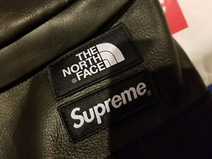 Supreme The North Face TNF Leather Day Pack Black FW17 SOLD OUT NEW IN HAND