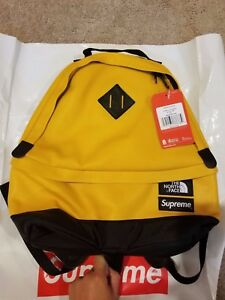 Supreme The North Face TNF Leather Day Pack Yellow FW17 SOLD OUT NEW IN HAND