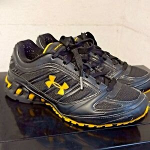 Under Armour Boys Shoes Youth Size 6 Black Yellow Boys Sneakers Batman Armor