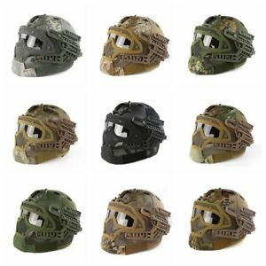 G4 System ABS Tactical Helmet & Full Face Mask And Goggle For Military Airsoft