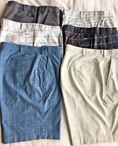 SIX Nike Fit Dry Athletic Golf Shorts Excellent Condition Size 42 1 Pair NWT