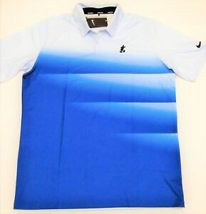 Disney Exclusive Nike Dri Fit Dark & Lite Blue Golf Polo T Shirt Sz Large NEW