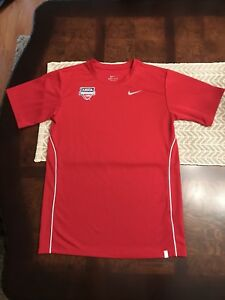 USTA Jr. Team Tennis Red Nike Dry-Fit T-Shirt Youth Boys Girls Size Large