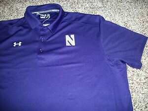 NORTHWESTERN WILDCATS Under Armour New NWT Mens Polo Shirt Loose Fit XL 2XL