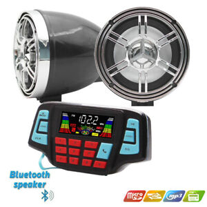12V Motorcycle Bluetooth Audio FM Radio Stereo Speaker For iPhoneiPodMP3