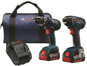 Bosch 18V Lithium Ion Cordless Combo Kit Wrench 3200 BPM 2800 No Load RPM Fast