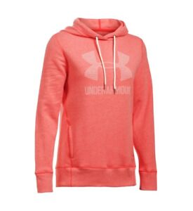 Under Armour Womens Pomegranate Pink Sportstyle Hoodie [1295097] Small US 4-6