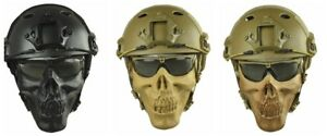 Tactical Fast Helmet & Adjustable Half Face Mask Combination Airsoft Paintball