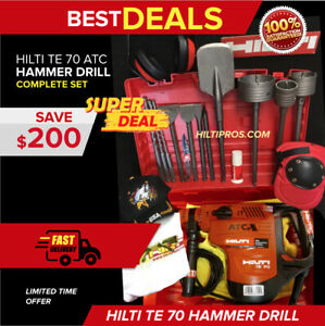 HILTI TE 70 ATC HAMMER DRILL, GREAT COND. MADE IN GERMANY, FREE EXTRAS,FAST SHIP