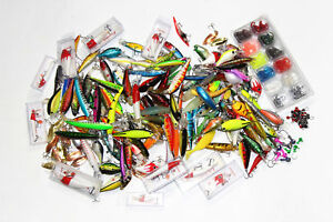 Huge Fishing Lure Mixed Lot 230+ Pcs Crankbaits Spoons Jerkbaits Etc Free Ship