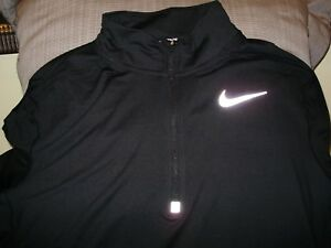 NIKE Running Dri-Fit Stay Dry Element Black 12 Zip Shirt Jacket Men's Size XL