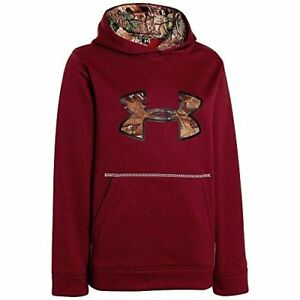 Under Armour Boys Storm Caliber Hoody Big Apple Red Heather  Realtree AP Large