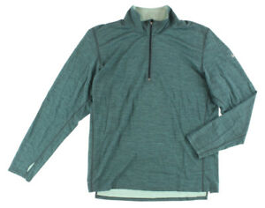 Nike Mens Dri Fit Wool Half Zip Running Shirt Muted Blue 548657 084